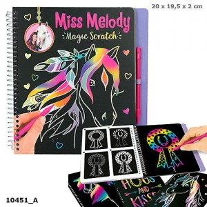 Zestaw kreatywny Magic Scratch Miss Melody