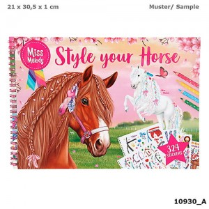 Kolorowanka Miss Melody Style Your Horse